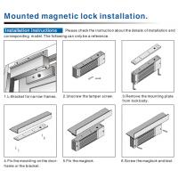 600 Lbs Single Door Magnetic Lock with LED Electromagnetic Locks For Glass Doors-JS-280S