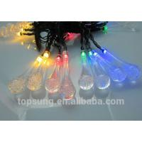 Wholesale led solar lights water drop 5m 20leds colorful chiristmas lights from china suppliers