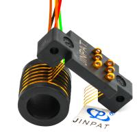 Wholesale Gold-Gold Contacts Tilt Camera Mounts Rotor Slip Ring Electric Motor 6 Circuits 240V AC / DC from china suppliers