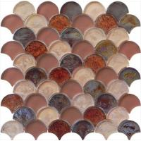 Wholesale Brown red luxury style water waving glass mosaic from china suppliers