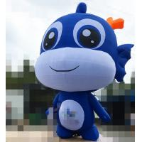 Wholesale 8 Meters Blue / White Fish Inflatable Cartoon Characters For Advertising Exhibition from china suppliers