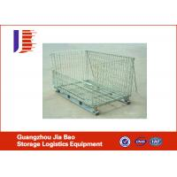 Wholesale Industrial Stackable Wire Mesh Storage Cage With Square-Stack Legs For Secure Stacking from china suppliers