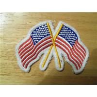 Wholesale Crossed American Flag Embroidery Iron-On Patch from china suppliers