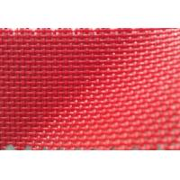 Wholesale Red color PVC Coated Polyester Mesh fabric Textilene from china suppliers