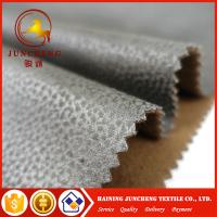 Buy cheap High Quality Polyester Embossed Pattern Bronzed Suede Sofa Fabric Car Seats Wholesale from wholesalers