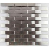 Wholesale 3d Arch Stainless Steel Mosaic Tile Backsplash , Stainless Steel Kitchen Tiles 8mm Thick from china suppliers