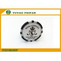 Wholesale PS / Ssilver Casino Customized Poker Chips Single Logo Sticker from china suppliers