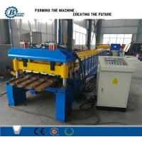 Wholesale Metal Trapezoidal Shape Step Roof Tile Roof Roll Forming Machine With Pressing Device from china suppliers