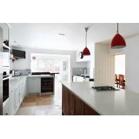 Buy cheap Quartz stone Slab White with small mirror Countertop Vanity Top Kitchentop from wholesalers