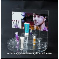 Quality Desk top acrylic cosmetic display rack / acrylic make-up display stand for sale
