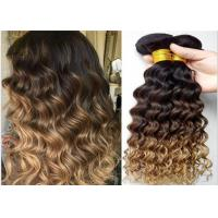Wholesale 7A Grade Real Ombre Human Hair Extensions , Deep Wave Ombre Real Hair Extensions Two Tone from china suppliers