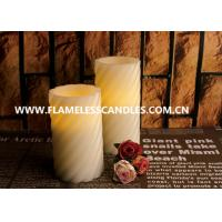 Wholesale Swirl Pattern LED Flameless Pillar Candles With Straight Edge for Christmas Decoration from china suppliers