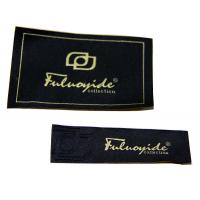 Wholesale Black Woven Personalized Clothing Labels Tags, Shoulder Patch With Fabric Backing from china suppliers