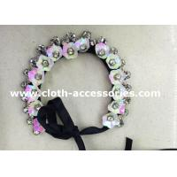 Wholesale Wedding Rose Pink Handmade Beaded Necklaces 38G Floral Sequin Shape from china suppliers