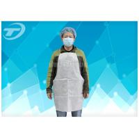 Wholesale Waterproof Disposable Polythene Aprons 9 X 107 Cm / Disposable White Plastic Aprons from china suppliers
