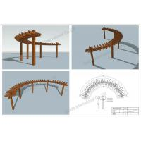 Wholesale wood plastic single post arch pergolas (OLDA-5500) from china suppliers