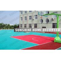 Wholesale Coloured Modular Sports Flooring Tiles With Suspended Drain Top For Volleyball Courts from china suppliers
