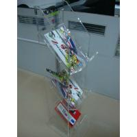 Wholesale 3 Mm 3 Tier Clear Acrylic magazine display rack Floor Stand for  retail shop from china suppliers