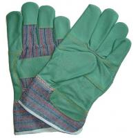Quality Blue tradesman Furniture patch palm stanley Leather Work Glove for hands protection 604FSD for sale