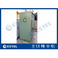 Quality IP55 Galvanized Steel Green Outdoor Power Cabinet / Outdoor Telecom Enclosure With Cooling System for sale
