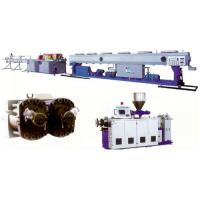 China UPVC CPVC Plastic Pipe Extrusion Line With Double Screw Extruder on sale