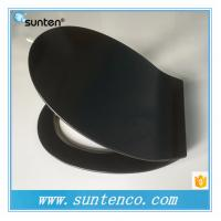 Urea Material White Ultra Slim Oval Black Toilet Seat Covers