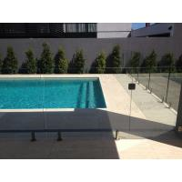 Wholesale Swimming pool safety glass railing/fence with stainless steel spigots from china suppliers