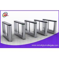 Buy cheap Building 316 stainless access control swing turnstile with fingerprint scanner from wholesalers