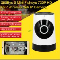 Wholesale EC5 720P Fisheye Panorama WIFI P2P IP Camera IR Night Vision CCTV DVR Wireless Remote Surveillance on iOS/Android App from china suppliers