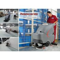 Dual brushes automatic battery walk behind floor scrubber dryer