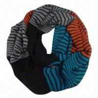 Wholesale Ladies' Knitted Scarf, Neck Warmer, Made of 100% Acrylic, Various Colors are Available from china suppliers