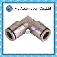Quality Copper nickel-plated straight angle quick-change connectors Pneumatic Tube Fittings PV series for sale