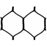 Garden Fence Black Vinyl Coated Hexagonal Wire Netting With 20 Gauge , 1