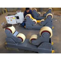 Wholesale Foot Padel Butt Welding Machine / Pipe Turning Rolls With PU Wheel 0.75KW from china suppliers