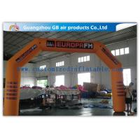 Wholesale Orange Custom Inflatable Race Arch , Inflatable Archway 420D Oxford Cloth Material from china suppliers