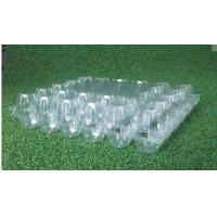 Wholesale PVC Disposable Food Trays / hard plastic egg cartons 30 Cavities from china suppliers