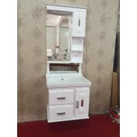 Wholesale hung PVC Bathroom Cabinet / Mirrored Bathroom Cabinet With Legs 80X48/cm from china suppliers