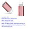 Buy cheap Aluminum 8 Pin Apple Lightning To Micro USB Adapter IPhone7 IPad Air Rose from wholesalers