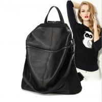 Wholesale Polyester Oxford Fabric PU Leather Fashionable Backpacks , Black Tote Bag For Women from china suppliers
