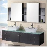 Wholesale Glass Double Sink Wall Mounted Bathroom Vanities (D1103) from china suppliers