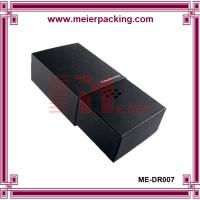 Wholesale Black art paper slider drawer box, luxury design paper box for Suit Tie ME-DR007 from china suppliers