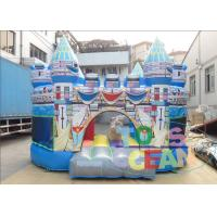 Wholesale Birth Blue Kids Inflatable Bounce House For Rent Folding Transparent from china suppliers
