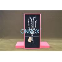 Wholesale Solid Luxury Cardboard Jewelry Boxes , Removable Insert Pads For Necklace from china suppliers