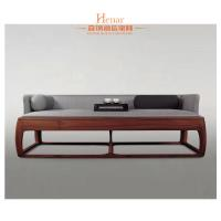 Buy cheap Hardwood + Plywood Hotel Lobby Sofa Sets With Table End ODM from wholesalers