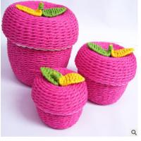Wholesale Woven Paper rope storage box from china suppliers