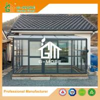 Wholesale 242 X 392 X 237CM Dark Grey Color 8mm Thick Polycarbonate Aluminum Glasshouse from china suppliers