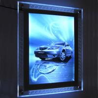 Wholesale 8mm super slim crystal led light box indoor advertising colorful from china suppliers