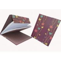 Quality 19 * 19 cm size round back spiral Custom greyboard Lenticular Notebook for sale