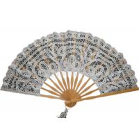 Wholesale Personalized Cotton Lace Hand Fans Lace Wedding Fans Custom Printed from china suppliers