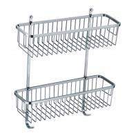 Wholesale Square stainless steel bathroom corner basket shower products holder from china suppliers